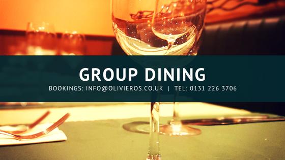 Group dining in Edinburgh